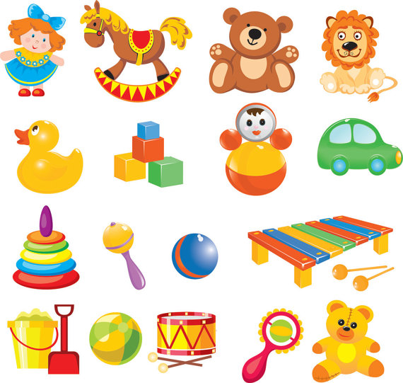 Cartoon Baby Toys : Cartoon baby toys clip art digital by brunostore