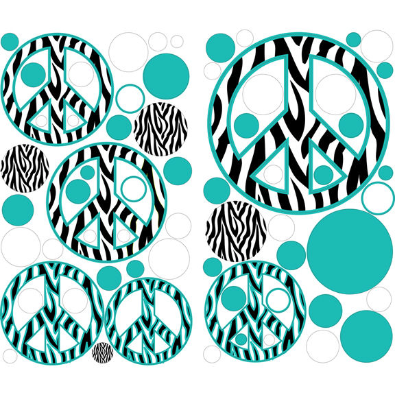 peace signs and zebra stripes wallpaper clipart best