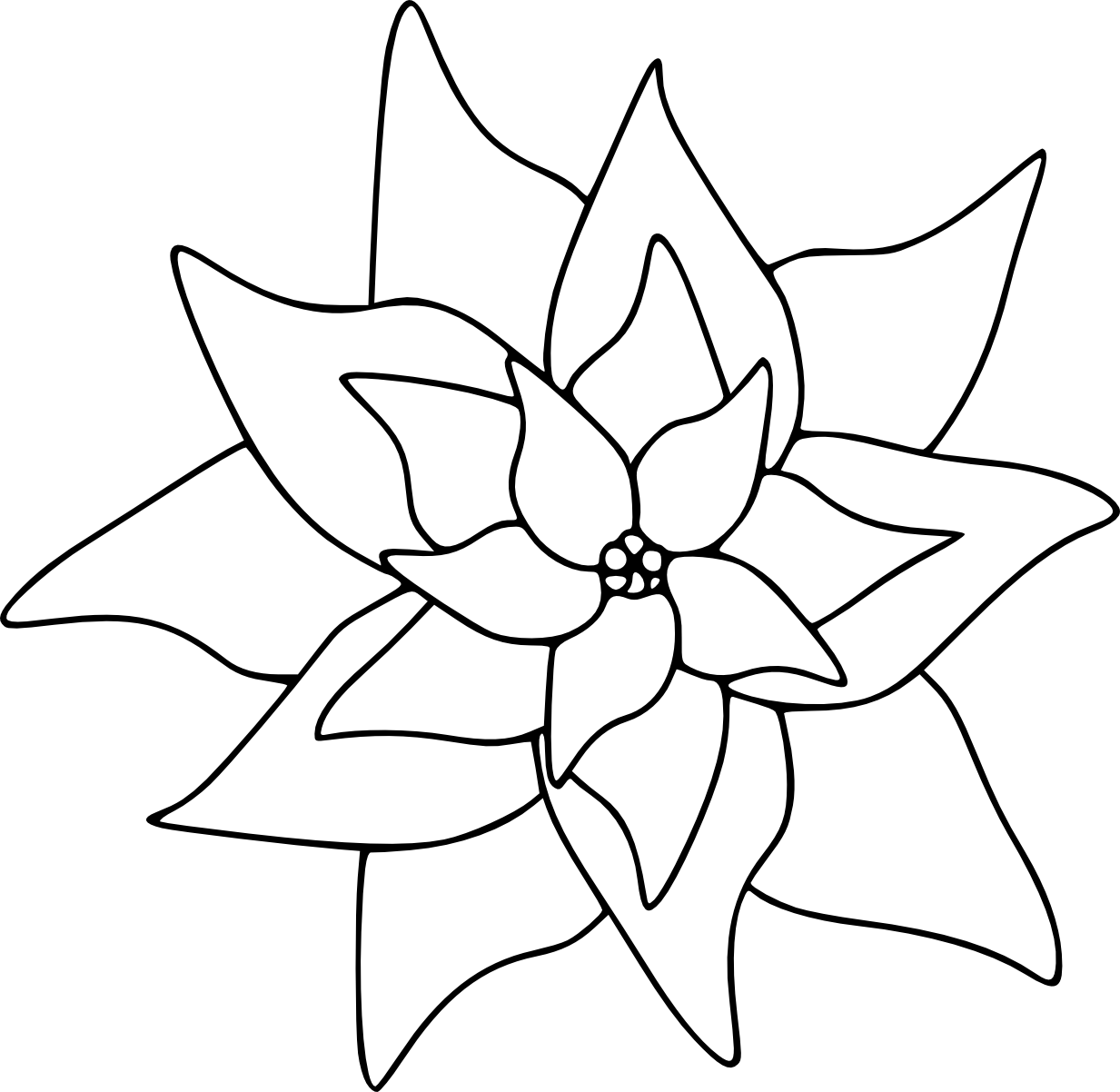 pointsettas coloring pages - photo#21