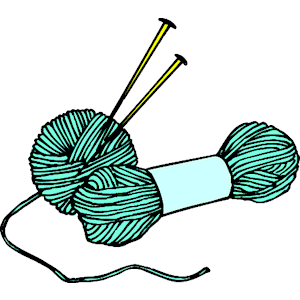 Skeins of wool and knitting needles — Stock Vector ...  |Clipart Knitting Needles
