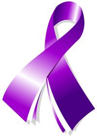 Purple Ribbon Cancer Clipart Best