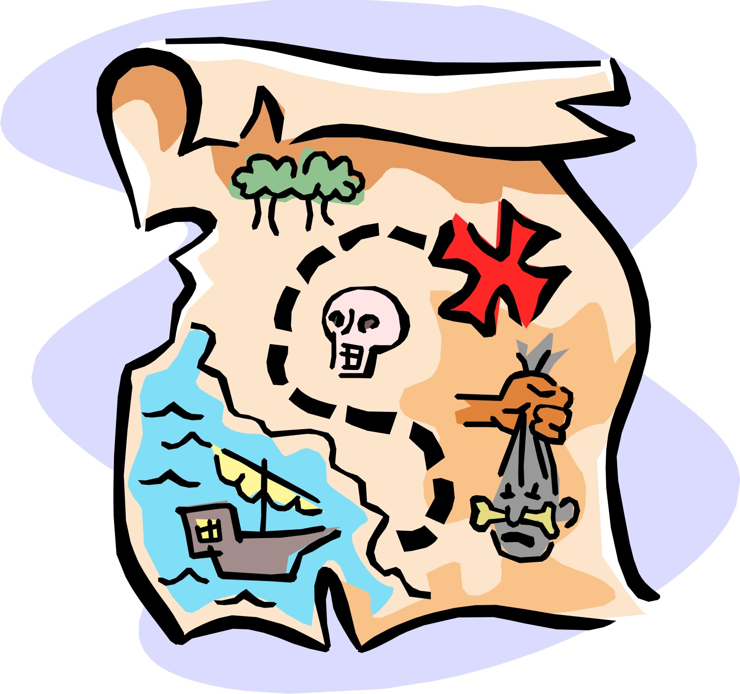 Pirate Maps Of The Treasure Island Clipart - ClipArt Best