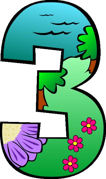 Three Clip Art -...1 2 3 Png