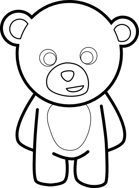 Line Drawing Of Bear Face : Teddy bear stencil clipart best