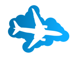 Plane Silhouette in the blue sky free vector clip art - Free ...