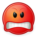 Angry Smiley Red - ClipArt Best