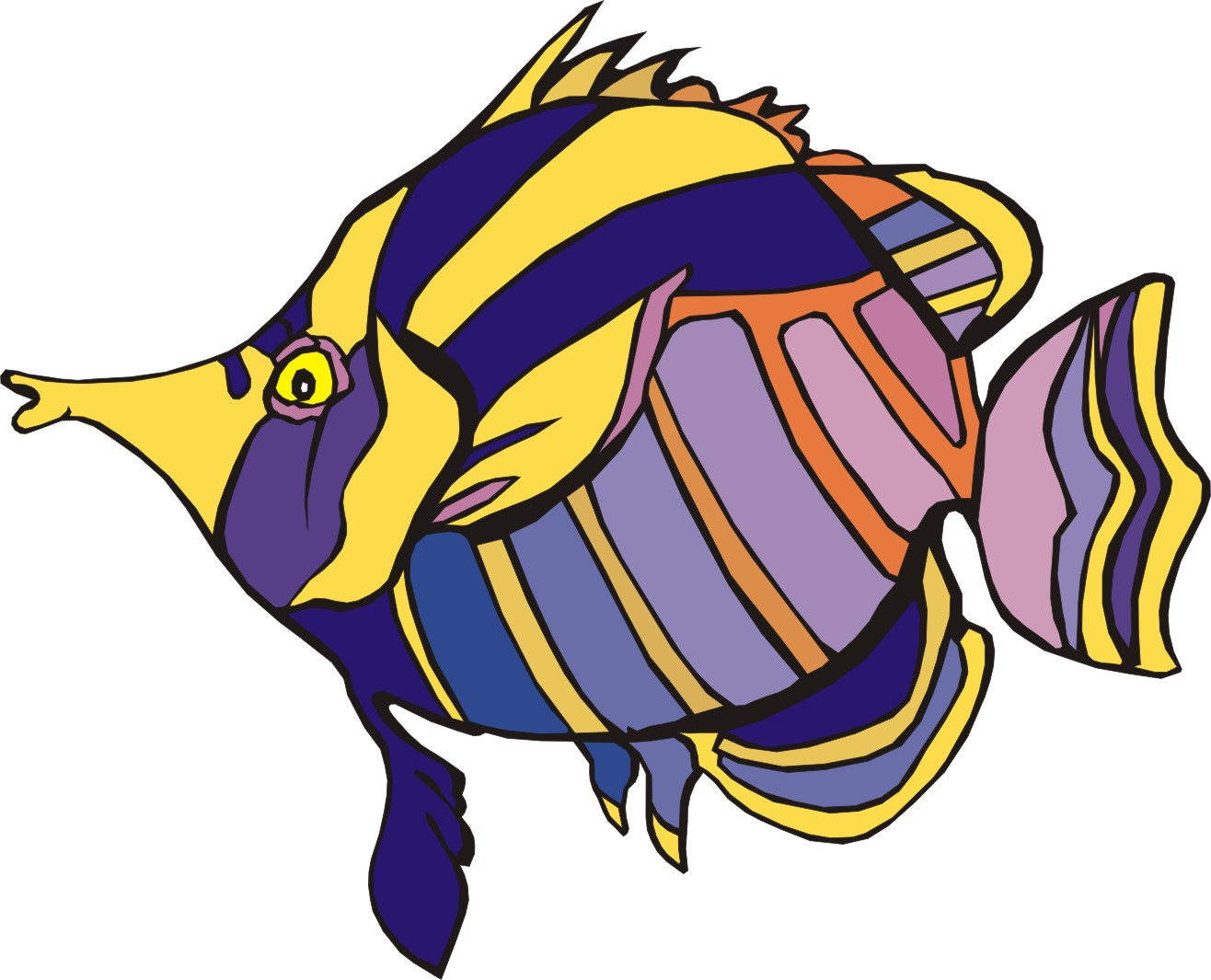 fish clipart drawing - photo #29