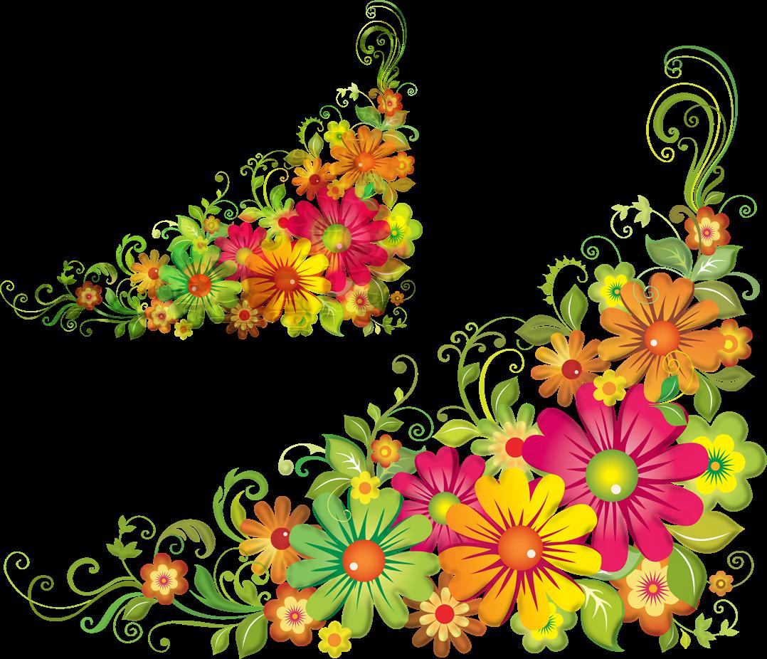 Corner Flower - ClipArt Best