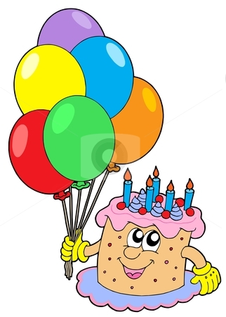 Cake And Balloons Clipart : Clipart Birthday Cake And Balloons - ClipArt Best
