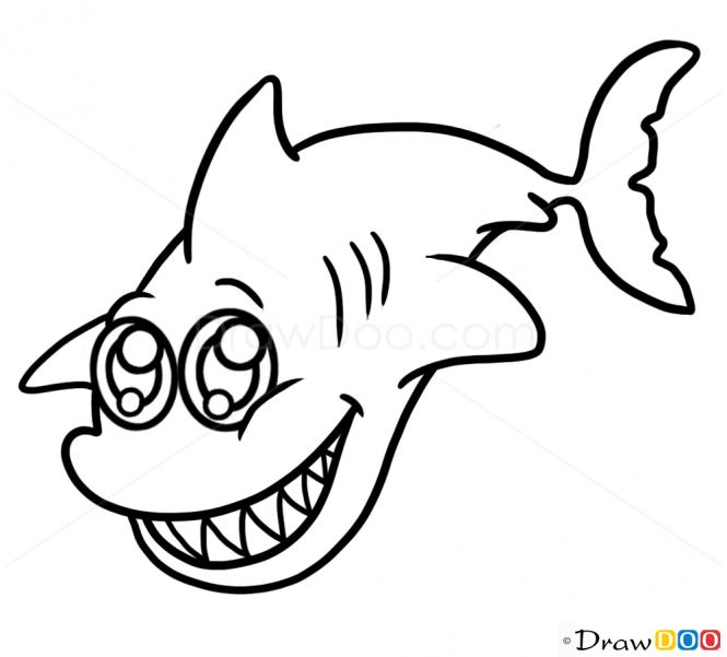 Cute Shark Drawing - ClipArt Best  Cute Shark Draw...