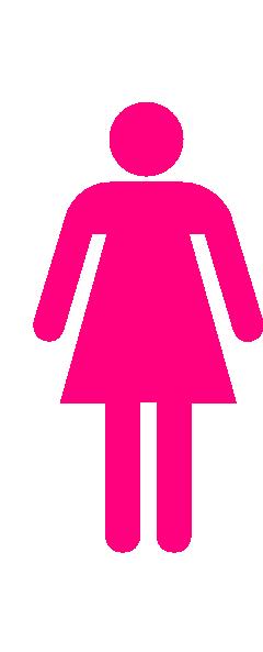 Large Woman Bathroom Sign Clip Art Vector Clip Art