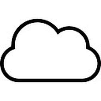 Cloud Vector Outline - ClipArt Best