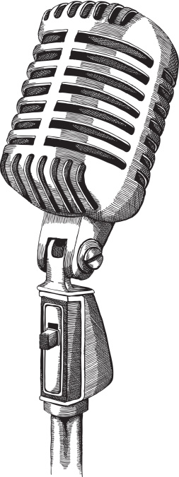 old fashioned microphone clip art
