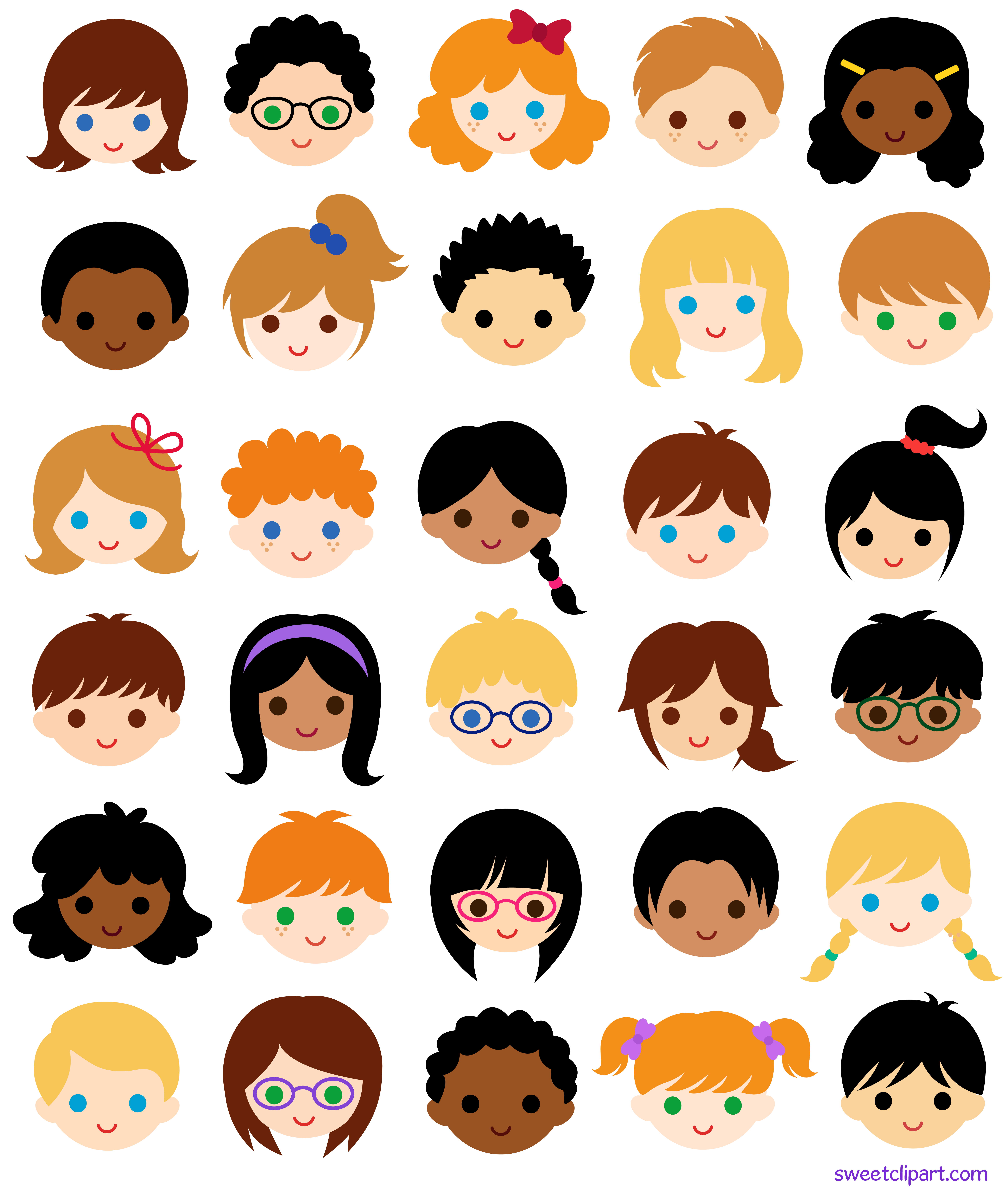 Multicultural People Clip Art - ClipArt Best