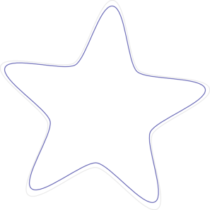 Free white star png clipart