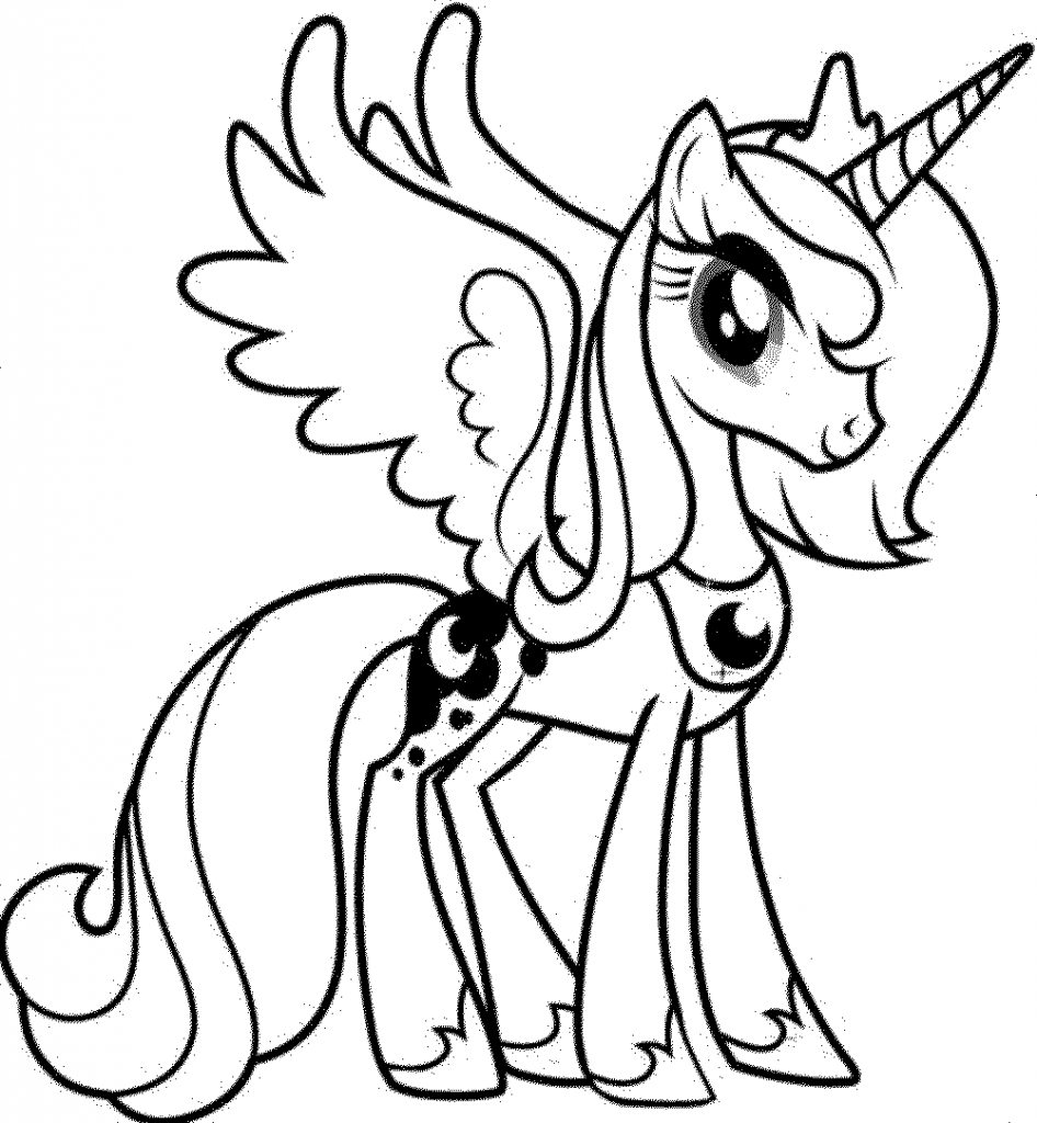 My little pony unicorn coloring pages - Unicorn Coloring Page Unicorn Coloring Pages My Little Pony Unicorn Pinkie Pie Coloring Pages Cartoon