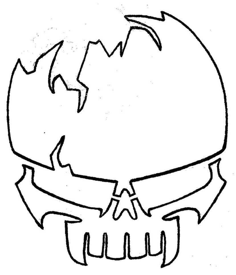 Skeleton Face Line Drawing : Skull line drawing clipart best