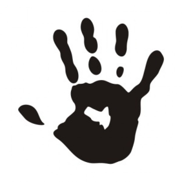 Vector Hand Print - ClipArt Best