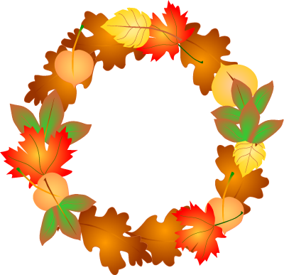 happy thanksgiving wreath