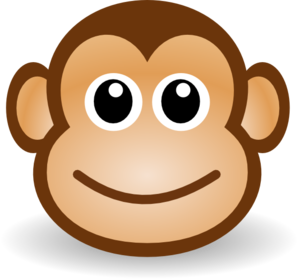 Monkey Face Coloring Page - ClipArt Best