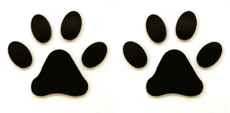 Cheetah Paw Print Clip Art Paw print fusible pre-cut 2 pack - 96 coe ...