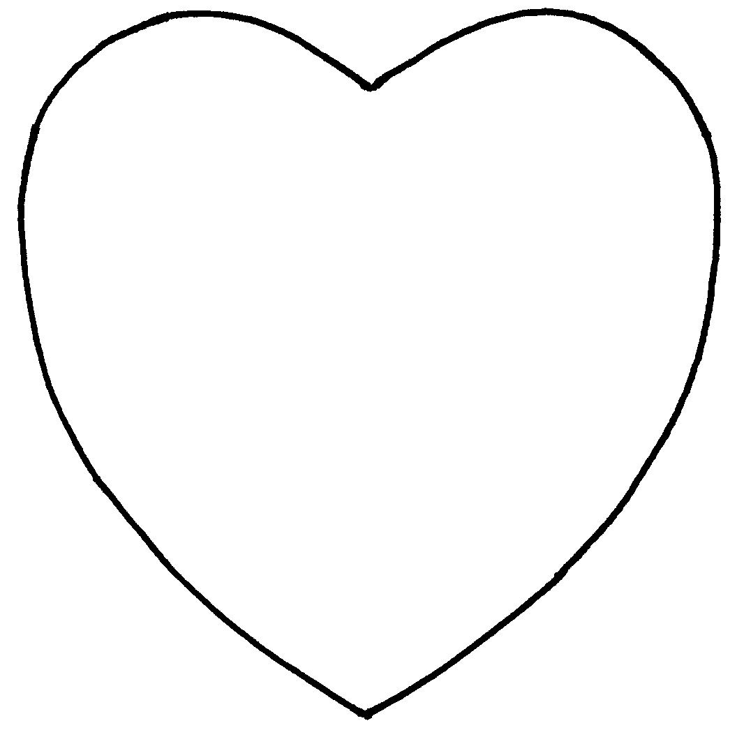 Heart template to print clipart best for Heart template for sewing