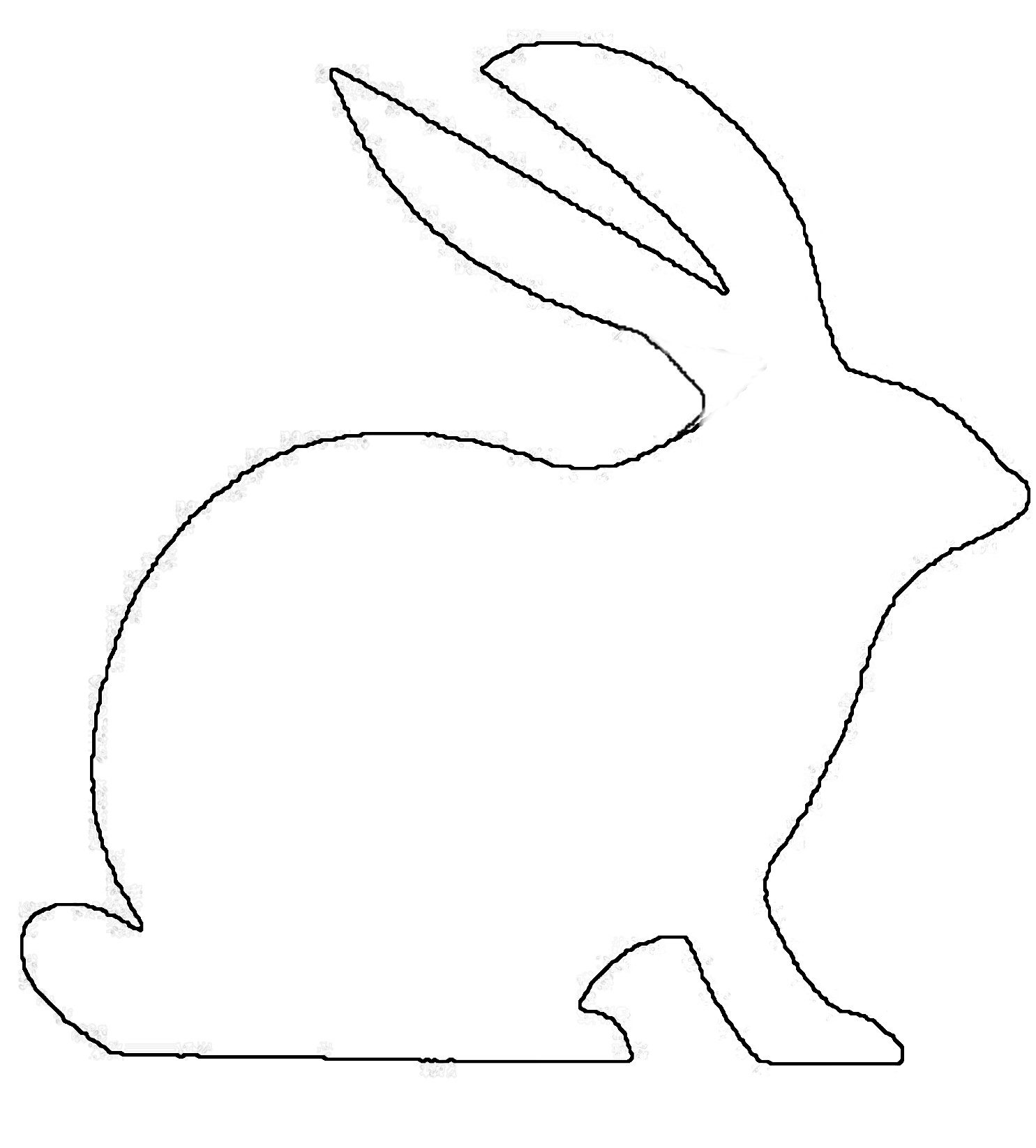 Line Drawing Easter Bunny : Outline drawing of rabbits clipart best
