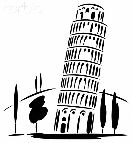 Tower Pisa Cartoon Leaning Tower of Pisa