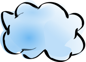 Blue And White Cloud Clip Art - vector clip art ...