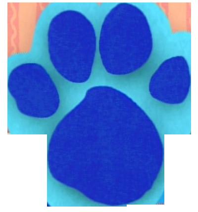 Blue Clues Pawprint - ClipArt Best