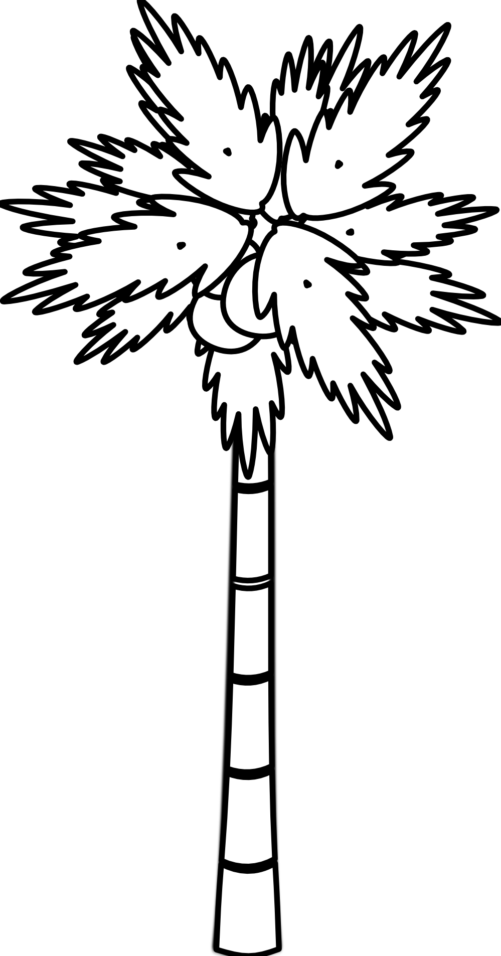 coconut tree clipart black and white clipart best