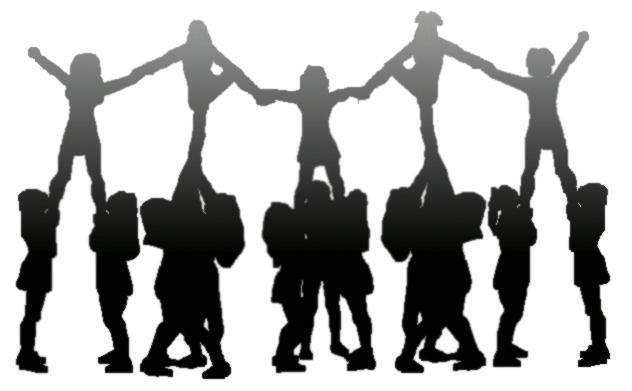 cheer silouhette clipart best Cartoon Cheerleader Clip Art free cheer clipart images