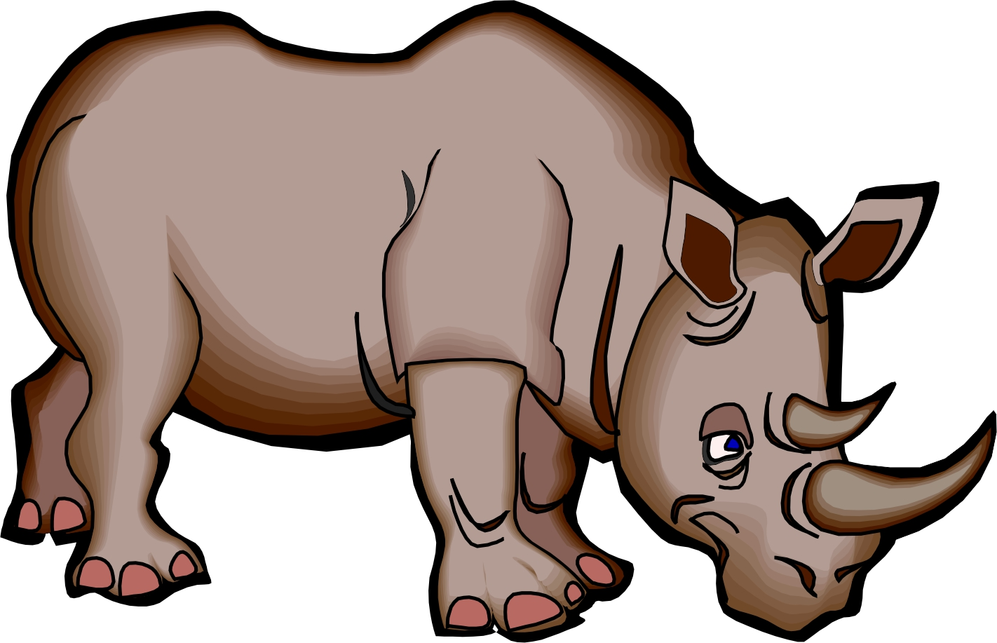 Rhino cartoon pictures clipart best