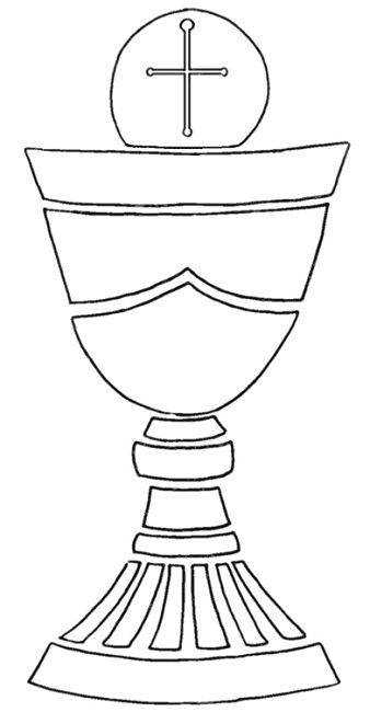 Outlines Of First Holy Communion - ClipArt Best