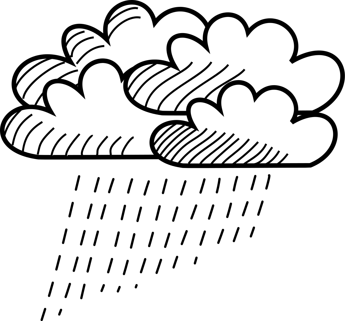 rain cloud sketch