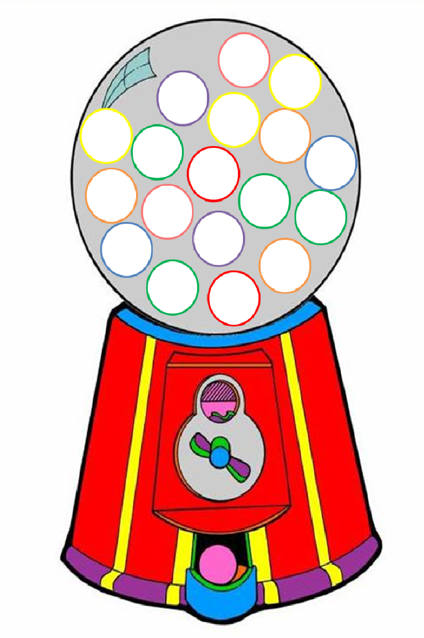 It's just a picture of Canny Gumball Machine Printable