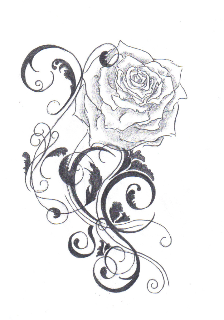 Cool Rose Designs to Draw Cool Rose Designs to Draw