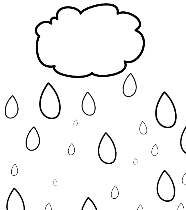 rain drop coloring pages - photo#33