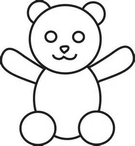 early play templates: Simple Teddy Bears to colour, stitch ...
