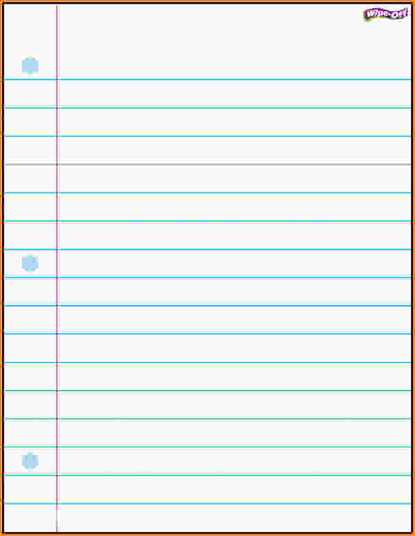 Printable Lined Notebook Paper Blue Lined Ledger 3hole School – Printable Lined Notebook Paper