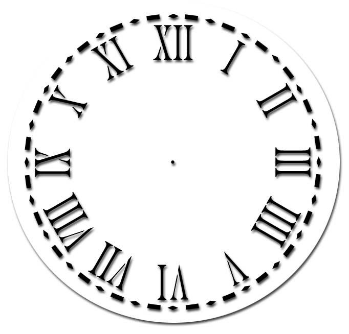 Roman Numeral Clock Face Template ClipArt Best – Clock Face Template