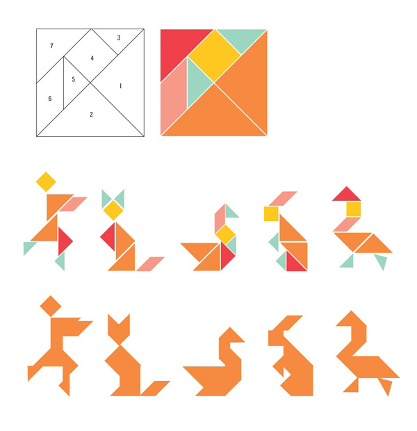how to make a tangram animal