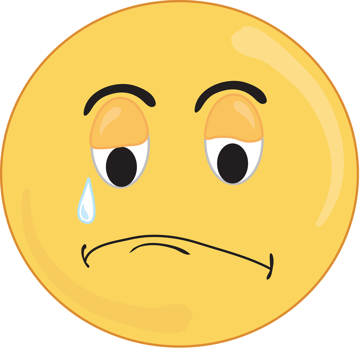 Crying Sad Face - ClipArt Best