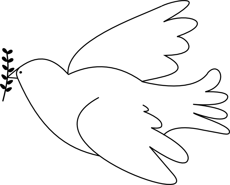 Printable Dove Template Dove free digital stamp