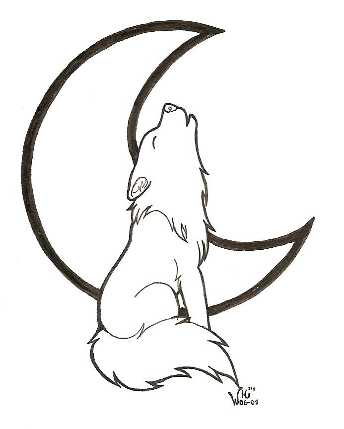 How To Draw A Wolf Howling - ClipArt Best