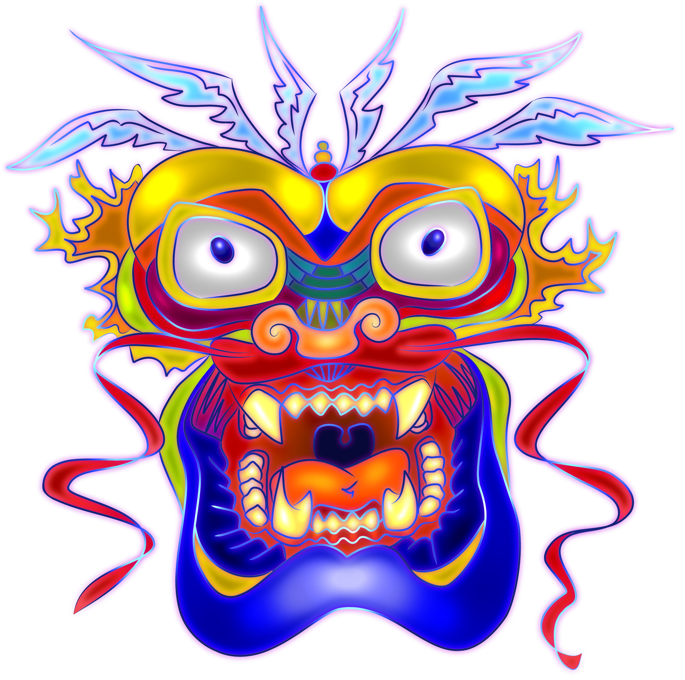 chinese dragon face template - dragon face clip art pictures to pin on pinterest pinsdaddy