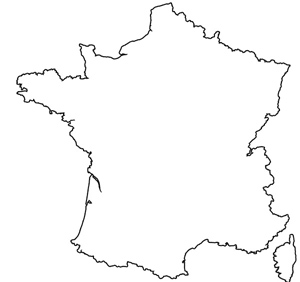 map of france outline clipart best