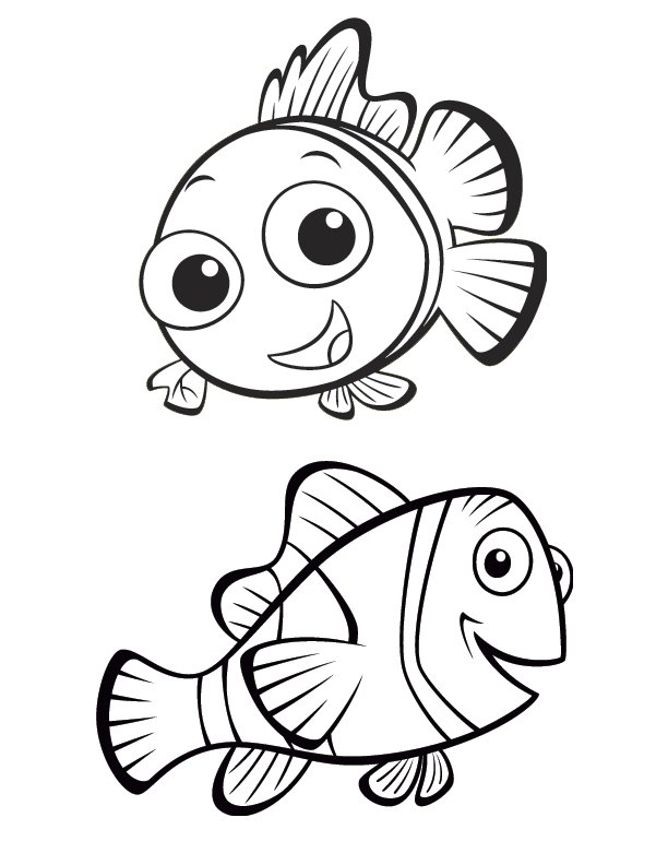 Nemo Clipart Coloring Pages
