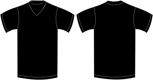V Neck T Shirt Template - ClipArt Best