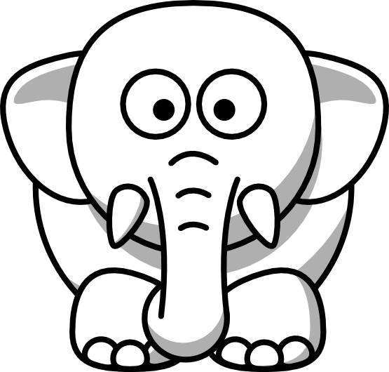 Best Elephant Clipart Black and White #28178 - Clipartion.com